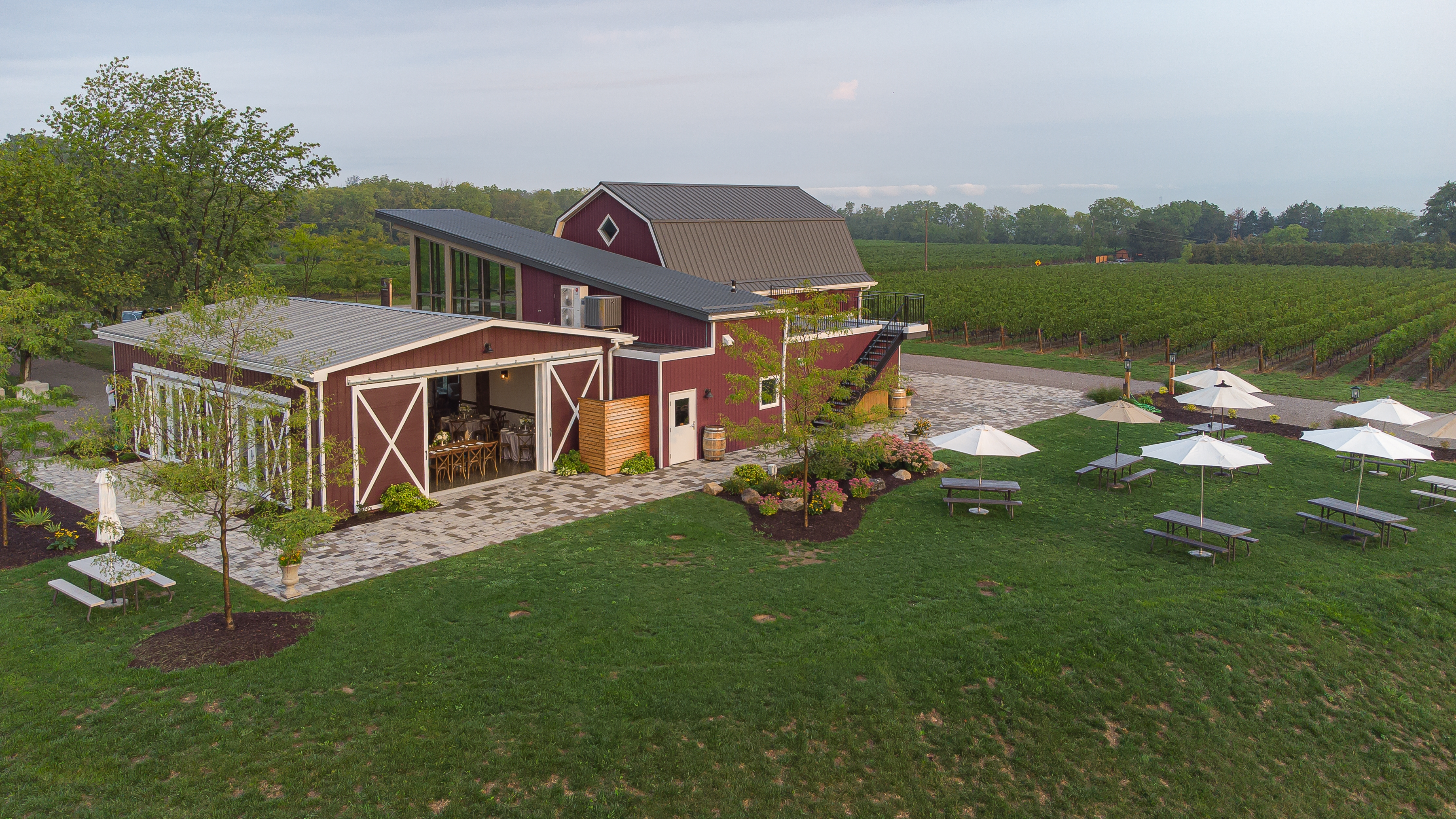 Cave Spring Barn Vineyard Exterior from back