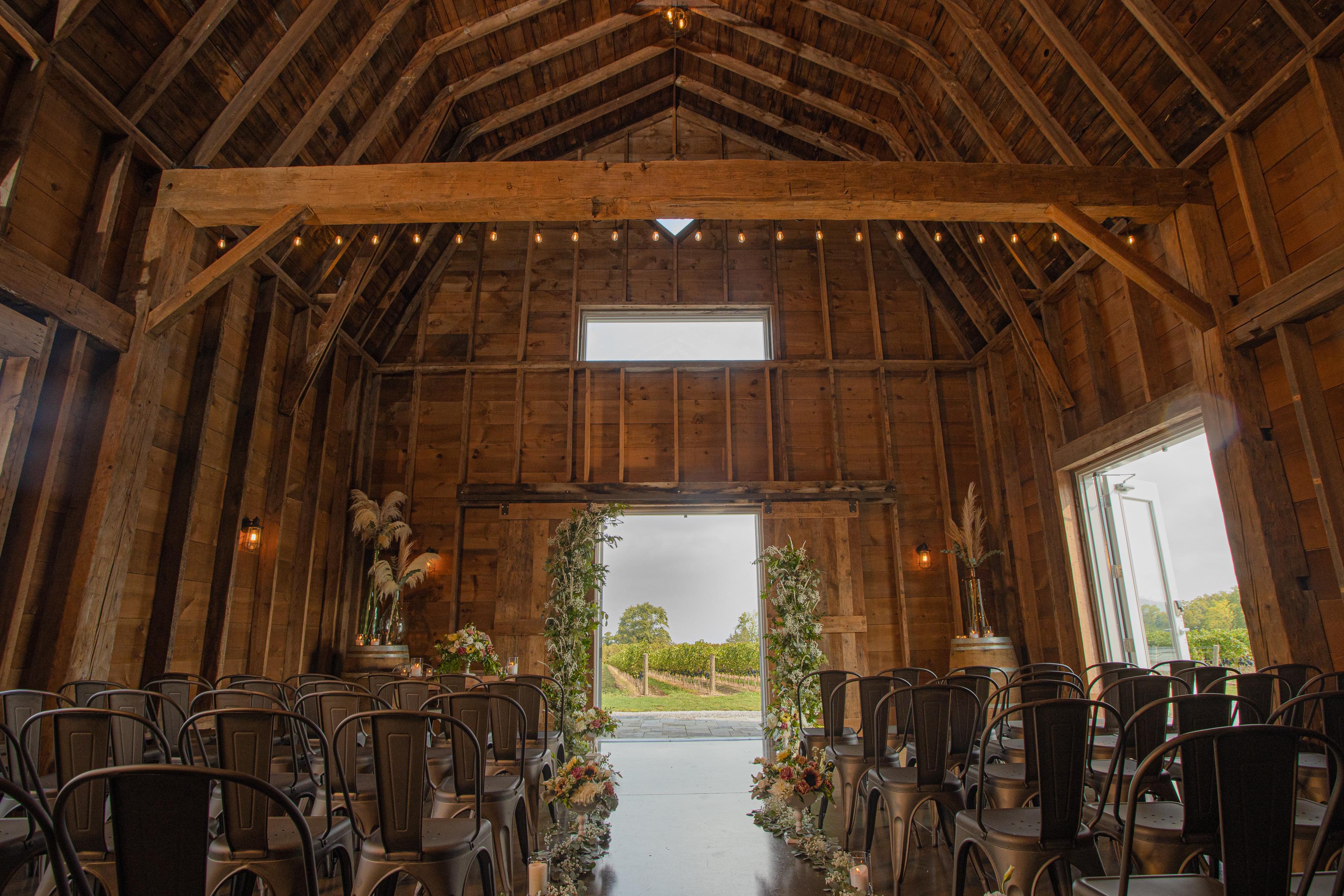 Cave Spring Barn Ceremony Doors Open